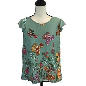 Twine & String Anthropologie Floral Top
